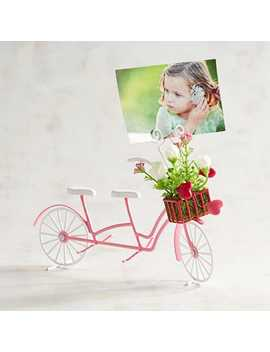 Pink Tandem Bicycle Photo Clip Frame by Pier1 Imports