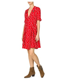 Magic Mushroom Polka Dot Wrap Dress by The Kooples