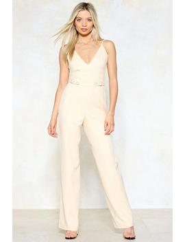 Don't Waist My Time Wide Leg Jumpsuit by Nasty Gal