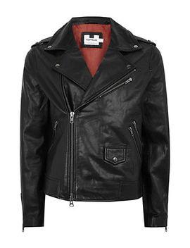 Leather Biker Jacket by Topman