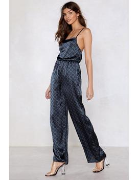Slip Up Geometric Jumpsuit by Nasty Gal