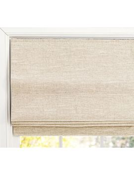 Emery Linen/Cotton Cordless Roman Shade   Oatmeal by Pottery Barn