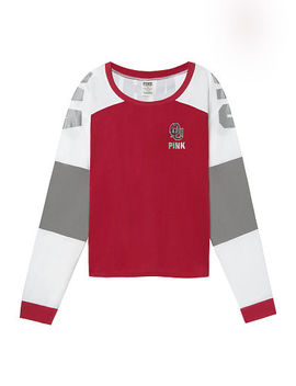 University Of Oklahoma Bling Cropped Varsity Crew by Victoria's Secret