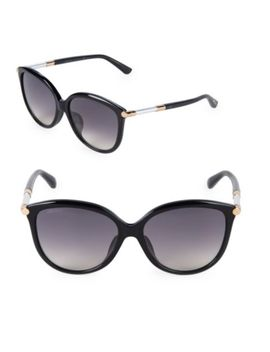 53 Mm Round Sunglasses by Gucci