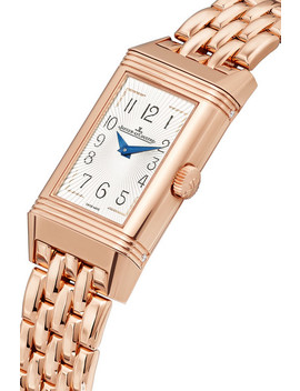 Reverso One Duetto Moon Rose Gold Diamond Watch by Jaeger Le Coultre