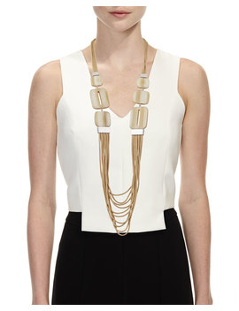 Marble Block Multi Strand Necklace by Lafayette 148 New York