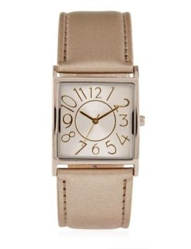 Large Square Face Strap Watch by Marks & Spencer