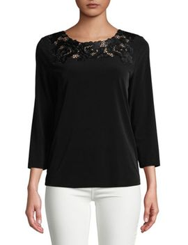 Cotton Floral Embroidered Top by Ivanka Trump