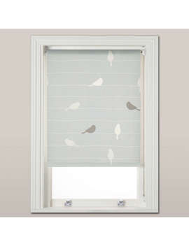 John Lewis Bird On A Wire Daylight Roller Blind, Mineral by John Lewis