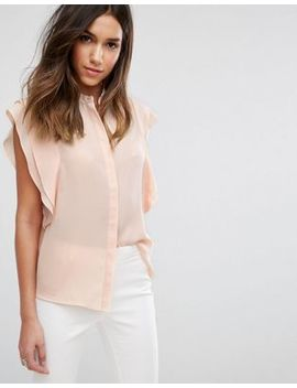 Asos Design – Bluse Mit Schulterrüschen by Asos Collection