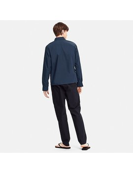 Men Tomas Maier 100% Cotton Poplin Zipup Blouson by Uniqlo