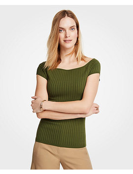 Boatneck Cap Sleeve Sweater by Ann Taylor