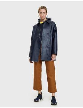 Brown Oilskin Raincoat by Need Supply Co.