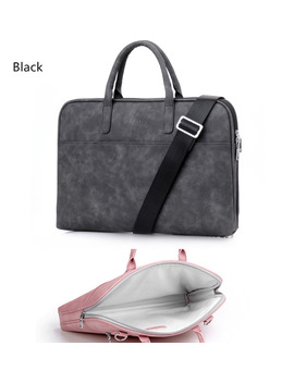 Fashion Pu Leather Laptop Bags For Women 14 15 15.6 17.3 Inch For Macbook Air 13 Inch Casual Portable Waterproof  Notebook Bag by Ali Express