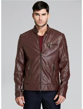 Everyday Leather Moto Jacket by Guess