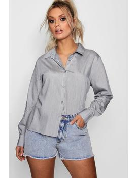 Plus Poppy Stripe Oversized Shirt by Boohoo