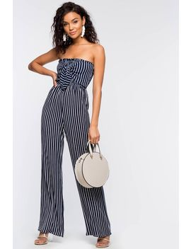 Jackie Stripe Smock Jumpsuit by A'gaci