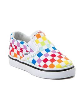 Toddler Vans Slip On Rainbow Chex Skate Shoe by Vans