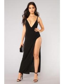 Is This Who You Want Dress   Black by Fashion Nova