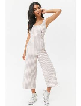 Striped Wide Leg Jumpsuit by Forever 21