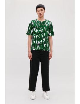 Striped Spray Print T Shirt by Cos