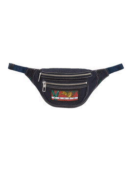 Navy Denim Bumbag Pouch by Kenzo