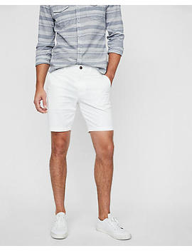 slim-fit-9-inch-flat-front-shorts by express