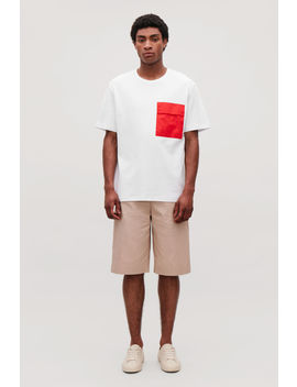 T Shirt With Contrast Pocket by Cos