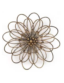 Flower Urban Design Metal Wall Decor by Adeco