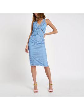 Blue Lace Tassel Midi Dress                                  Blue Lace Tassel Midi Dress by River Island