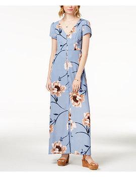 Juniors' Printed Maxi Dress by Trixxi