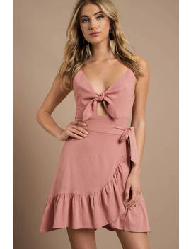 Astr Sandy Peach Dress by Tobi