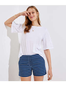 Striped Riviera Shorts by Loft