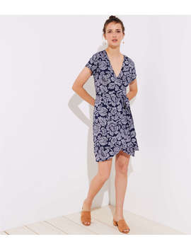 Floral Short Sleeve Wrap Dress by Loft