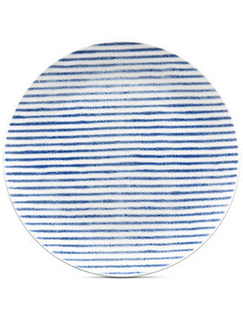 Blue Hammock Coupe  Stripe Salad Plate, Created For Macy's by Noritake