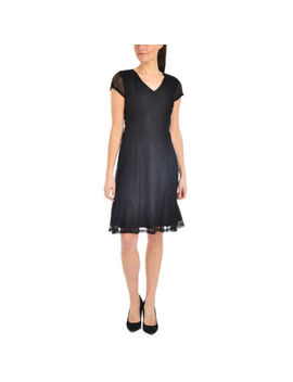 Ny Collection Flounce Hem Lace Dress   Petities by Asstd National Brand