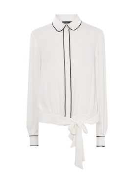 Tie Waist Crop Blouse by Karen Millen
