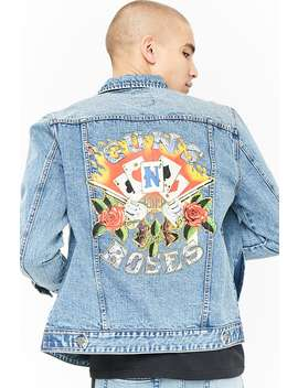 Guns N' Roses Graphic Denim Jacket by F21 Contemporary