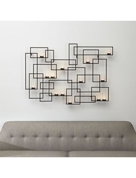 Circuit Metal Wall Candle Holder by Crate&Barrel