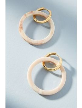 Amari Resin Hooped Post Earrings by Amber Sceats