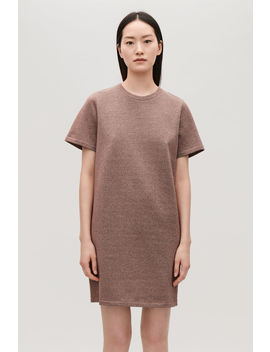 Metallic Jersey T Shirt Dress by Cos