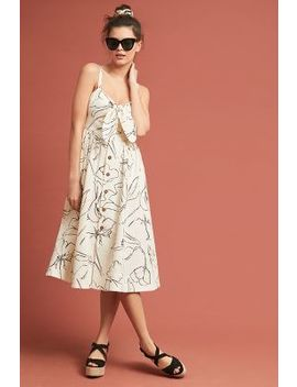 Whit Loli Floral Midi Dress by Whit