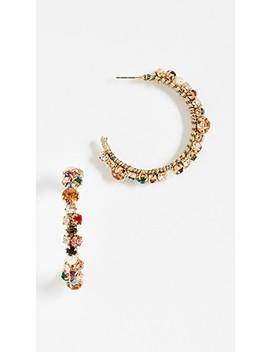 Multi Crystal Earrings by Bauble Bar
