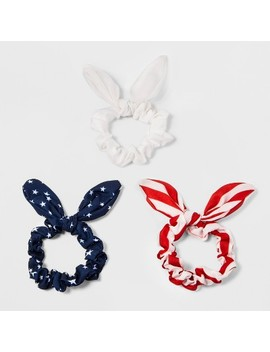 Bow, Stars Print, 1 Stripe And Solid Pony Holder Set 3ct by Target