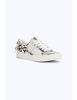 Silver Daisy Sneaker by Marc Jacobs