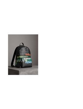 Logo Print London Check Backpack by Burberry