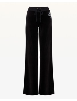 Crystal Starburst Velour Del Rey Pant by Juicy Couture