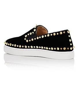 Pik Boat Woman Flat Velvet Sneakers by Christian Louboutin