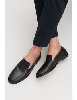 Leather Slip On Shoes by Cos