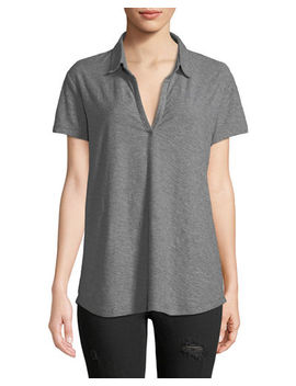 Short Sleeve Polo Top by James Perse